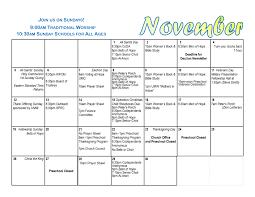 calendar bulletin newsletter