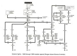 electrical wiring diagram exteriorlights 1983to1989 exterior