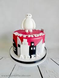 Movie Themed Cake Decorations Pink Little Cake Big Heroe Movie Theme Cake