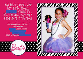 Barbie Invitation Card Dance Party Invitations Quotes Features Party Dress Free Printable
