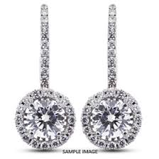 drop diamond earrings 2 08 carat tw brilliant 18k white gold drop diamond