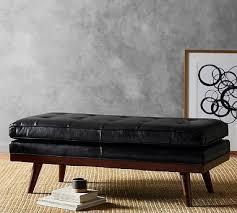brilliant leather ottamans coffee table west elm leather ottoman