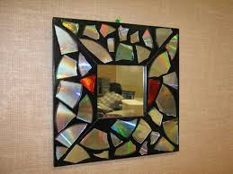 diy recycled home decor ideas with cd diy recycling s recycled home decor youtube mirror