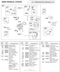 briggs and stratton 583447 0317 e2 parts diagram for carburetor