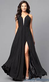 corset back plunging neckline faviana formal gown