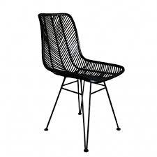 chaise en en rotin 55x44x86 cm