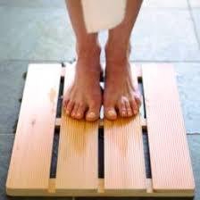 hinoki wooden bath mat