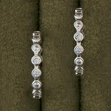 in earrings cubic zirconia hoops in earrings