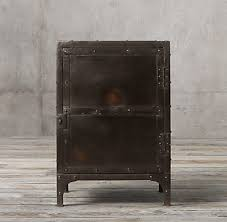 Restoration Hardware Side Table Industrial Tool Chest Side Table
