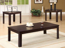 dark walnut end table coaster 700215 occasional 3 piece table set dark walnut finish ebay