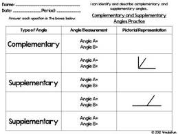 and supplementary angles flippable foldable and practice