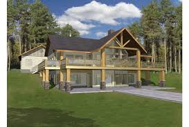 homes built into hillside eplans a frame house plan hillside with two levels of