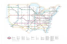 Colorado Us Map by U S Interstates As A Subway Map Visual Ly