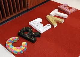 diy tutorial u2013 paper mache 3d letters paper mache 3d letters