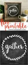 diy gather mini signs rustic signs free printable and printing cute decor print this free gather print from lollyjaneblog put in a