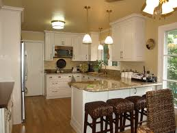 Kitchen Peninsula Design Kitchen Peninsula Design With Rattan Chairs And White Cabinet Also