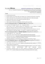 Sample Resume For Software Engineer With 1 Year Experience by 1 Year Experience Resume Format For Java Developer Contegri Com