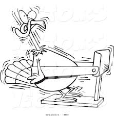 vector of a cartoon turkey bird exercising on a treadmill