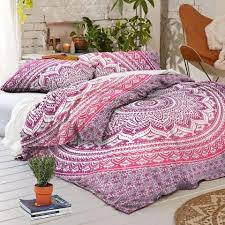 pink ombre duvet cover set king size quilt cover boho comforter cover