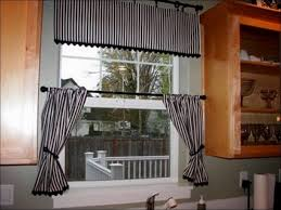 black and white curtains for kitchen door window u2014 railing stairs