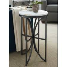 marble accent table impact bronze silver white marble small round accent table 576 917