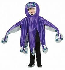 Halloween Octopus Costume Kids Octopus Costume 8 Tentacles Tunic Halloween Unisex Girls Boys