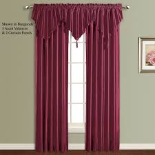 Burgundy Curtains For Living Room Annaleigh Faux Silk Waterfall Window Treatment