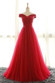 ups0078 full length off shoulder sleeves red bridesmaid dresses