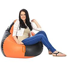 orka classic xxl bean bag filled with beans brown tan amazon in