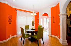 orange paint color for dining room home interiors