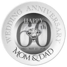 60th anniversary plates 60th wedding anniversary plates zazzle