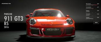 porsche sports car 2016 porsche 911 gt3 rs 2016 gran turismo sport car list