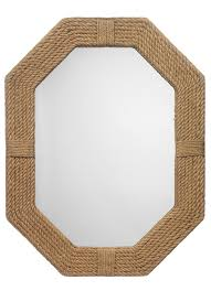 Nautical Wall Mirrors Custom Braided Nautical Themed Wall Mirror Traditional