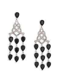 Black And Silver Chandelier Earrings John Hardy Classic Chain Black Chalcedony Diamond U0026 Sterling