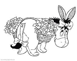 eeyore winnie pooh color disney coloring pages color
