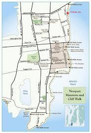 Map Of Ri Map Of Historic Cliff Walk In Newport Ri Cliffside Inn