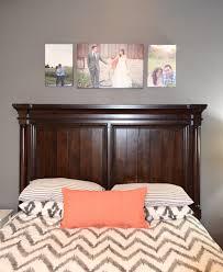 West Elm Chevron Duvet Jessica Stout Design Coral Gray Master Bedroom My Home