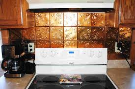 Wall Tiles For Kitchen Ideas Copper Tiles Backsplash Ideas With Awesome Floral Embossed Copper