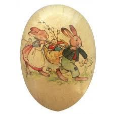 vintage paper mache easter eggs 1 2 vintage bunny basket papier mache easter egg container germany