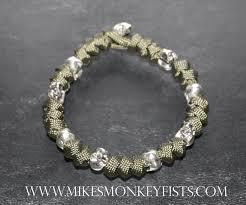 metal beads bracelet images Custom paracord bracelet with metal skull beads gif