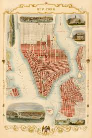 Old Map New York City by City Plan Of New York In 1851 Framed Battlemaps Us