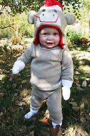 sock monkey costume repurposing day 1 sweater into a sock monkey