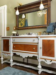 Making A Platform Bed Out Of Kitchen Cabinets by Repurpose A Dresser Into A Bathroom Vanity How Tos Diy