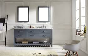 black polished solid wood bathroom vanity with three section open