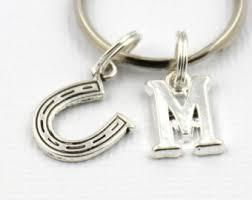 Personalized Horseshoe Horseshoe Keychain Etsy
