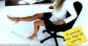 Office Chair Exercises How To Get Fit At Your Desk In 10 Simple Exercises Daily Mail Online