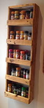 Wooden Spice Cabinet With Doors Pallet Spice Rack Pallets Pallet Projects And Pallet Spice Rack