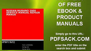 nissan murano 2005 service manual repair manua video dailymotion