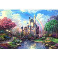 castle fluorescent paper puzzle 1000 pieces noctilucent jigsaw