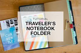 Diy traveler 39 s notebook folder tutorial paper nerd
